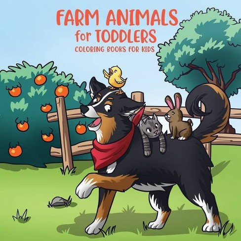 Farm Animals for Toddlers - (Coloring Book for Toddlers Ages 2-4 and 4-8 Chris) (Paperback) - image 1 of 1