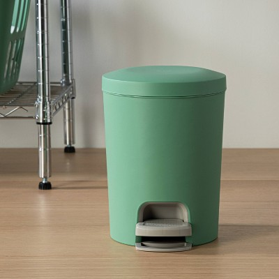 1.6gal Step-On Wastebasket Light Green - Room Essentials™