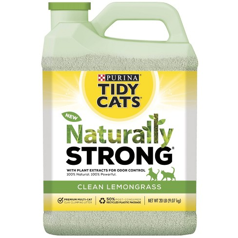 Tidy Cats Naturally Strong Cat Litter Lemongrass Scent - image 1 of 4