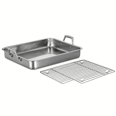 "Tramontina Gourmet Prima 16.5"" Roasting Pan with Basting Grill"