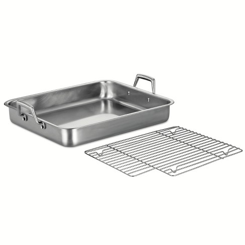 """Tramontina Gourmet Prima 16.5"""" Roasting Pan with Basting Grill - image 1 of 4"""