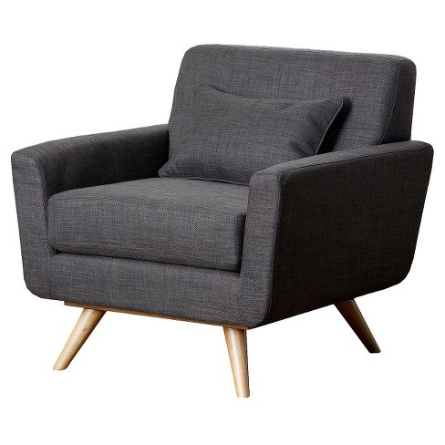 Kendall Tufted Armchair Gray - Abbyson Living - image 1 of 5