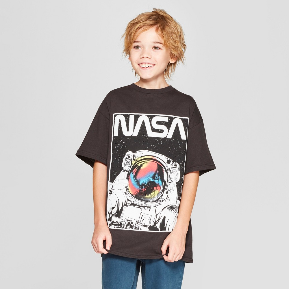 Boys' Nasa Short Sleeve Graphic T-Shirt - Black XS