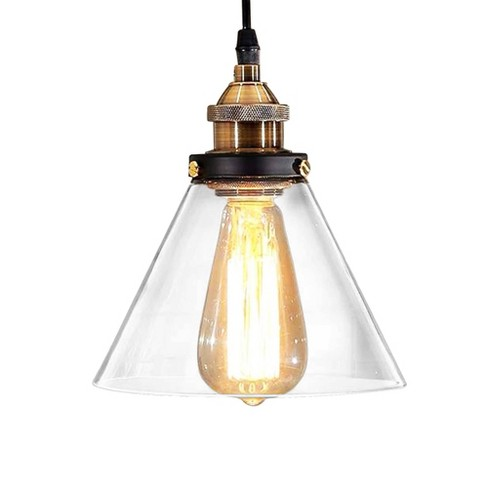 Warehouse Of Tiffany 10 X 10 X 13 Inch Clear Black Ceiling Lights - image 1 of 3