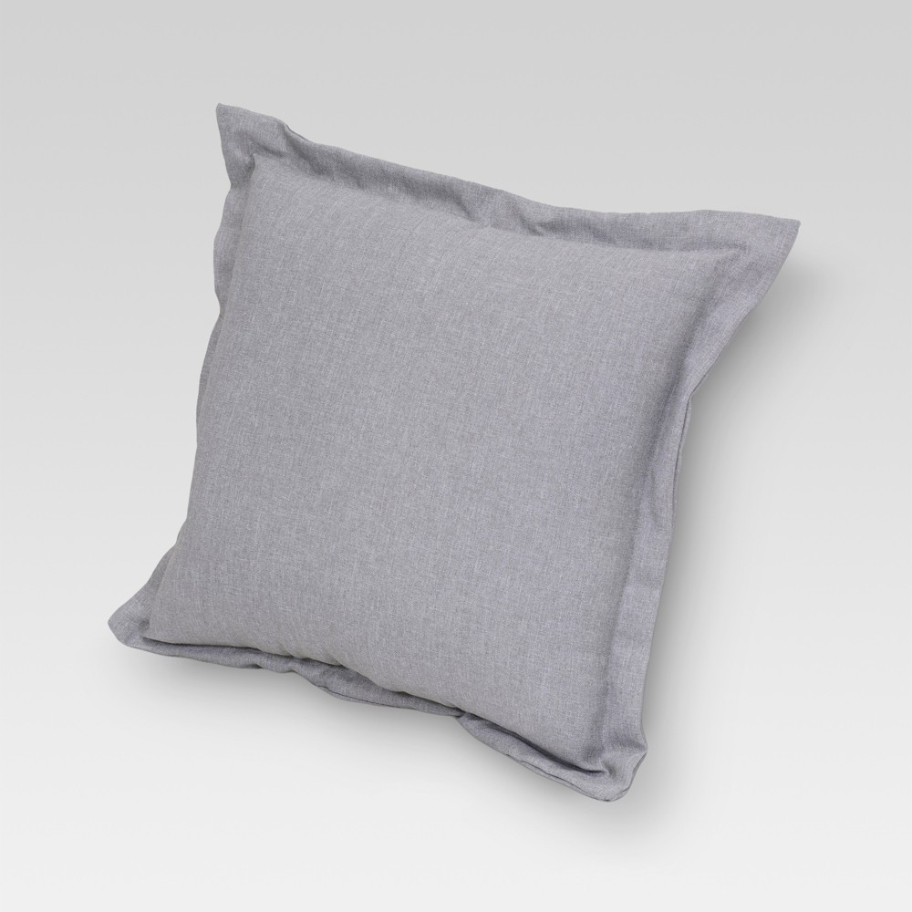 Outdoor Deep Seat Pillow Back Cushion Gray - Threshold