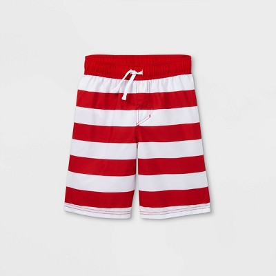 Boys' Striped Swim Trunks - Cat & Jack™