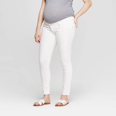 Maternity Inset Panel White Skinny Jeans - Isabel Maternity by Ingrid & Isabel™ White