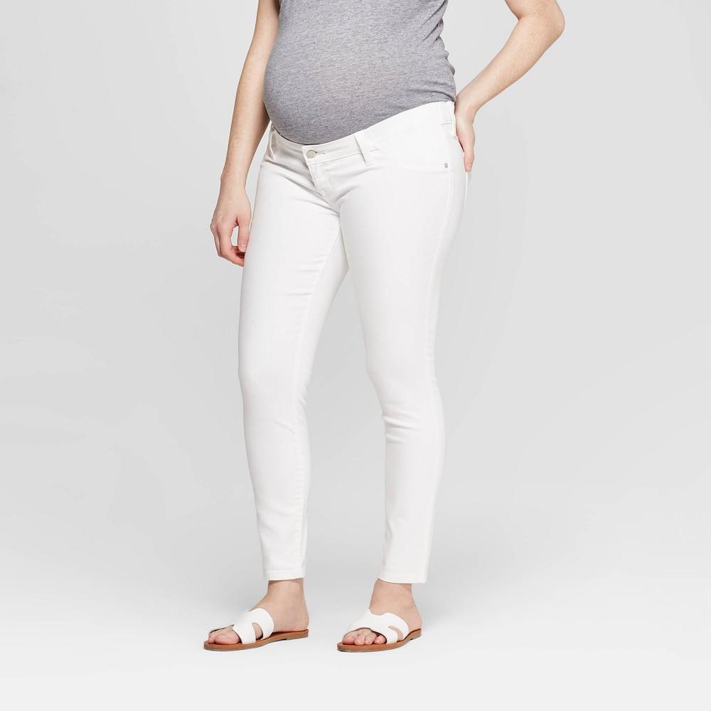Maternity Inset Panel White Skinny Jeans - Isabel Maternity by Ingrid & Isabel White 8 Coupons