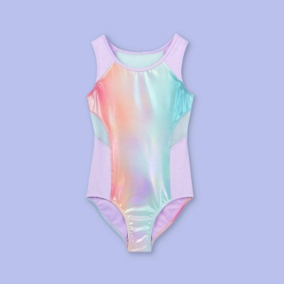 Girls' Iridescent Rainbow Gymnastics Leotard - More Than Magic™