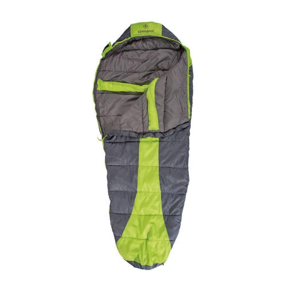 Stansport Trekker Mummy 20 Degree Fahrenheit Sleeping Bag - Green