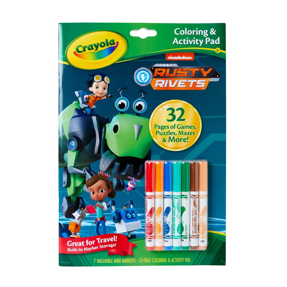 Crayola Rusty Rivets Coloring Book, White