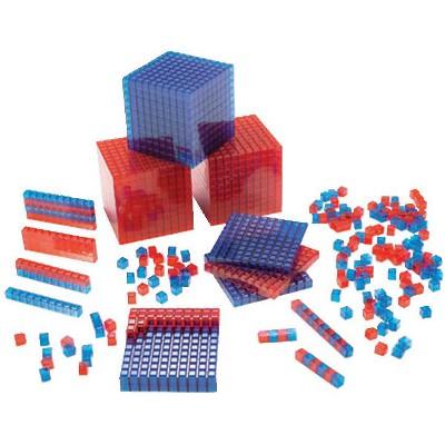 SI Manufacturing Clearview Base Ten Blocks, Starter Set
