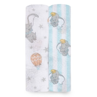 Aden + Anais Essentials Disney Baby Swaddleplus Dumbo New Heights - 2pk