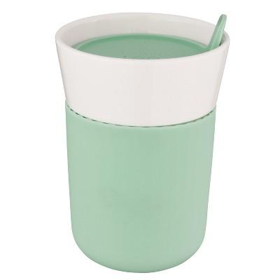 BergHOFF Leo 11.16oz Porcelain Travel Mug, Green