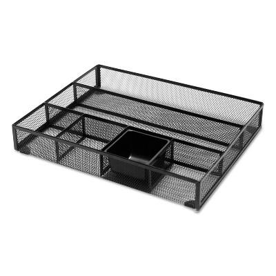Universal Metal Mesh Drawer Organizer 15 x 11 7/8 x 2 1/2 Black 20021