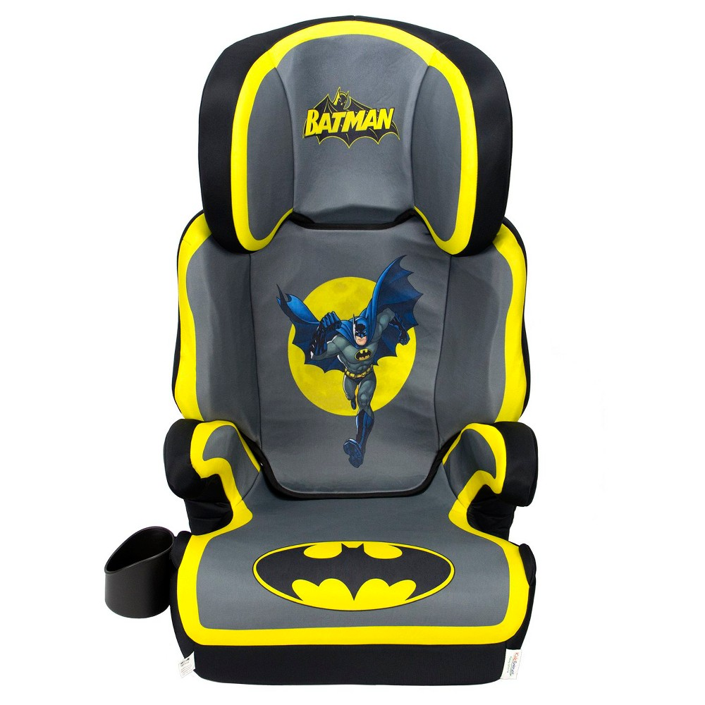 Image of KidsEmbrace DC Comics Batman High Back Booster Car Seat, Yellow Gray Black Blue