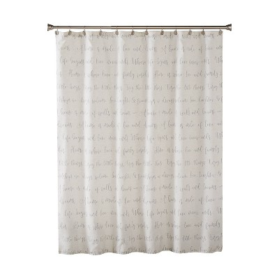 Family Dreams Fabric Shower Curtain Gray - SKL Home