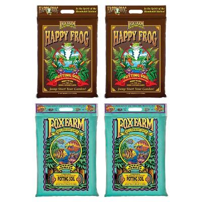 FoxFarm Happy Frog Nutrient and Ocean Forest Garden Potting Soil Mix (2 Pack)