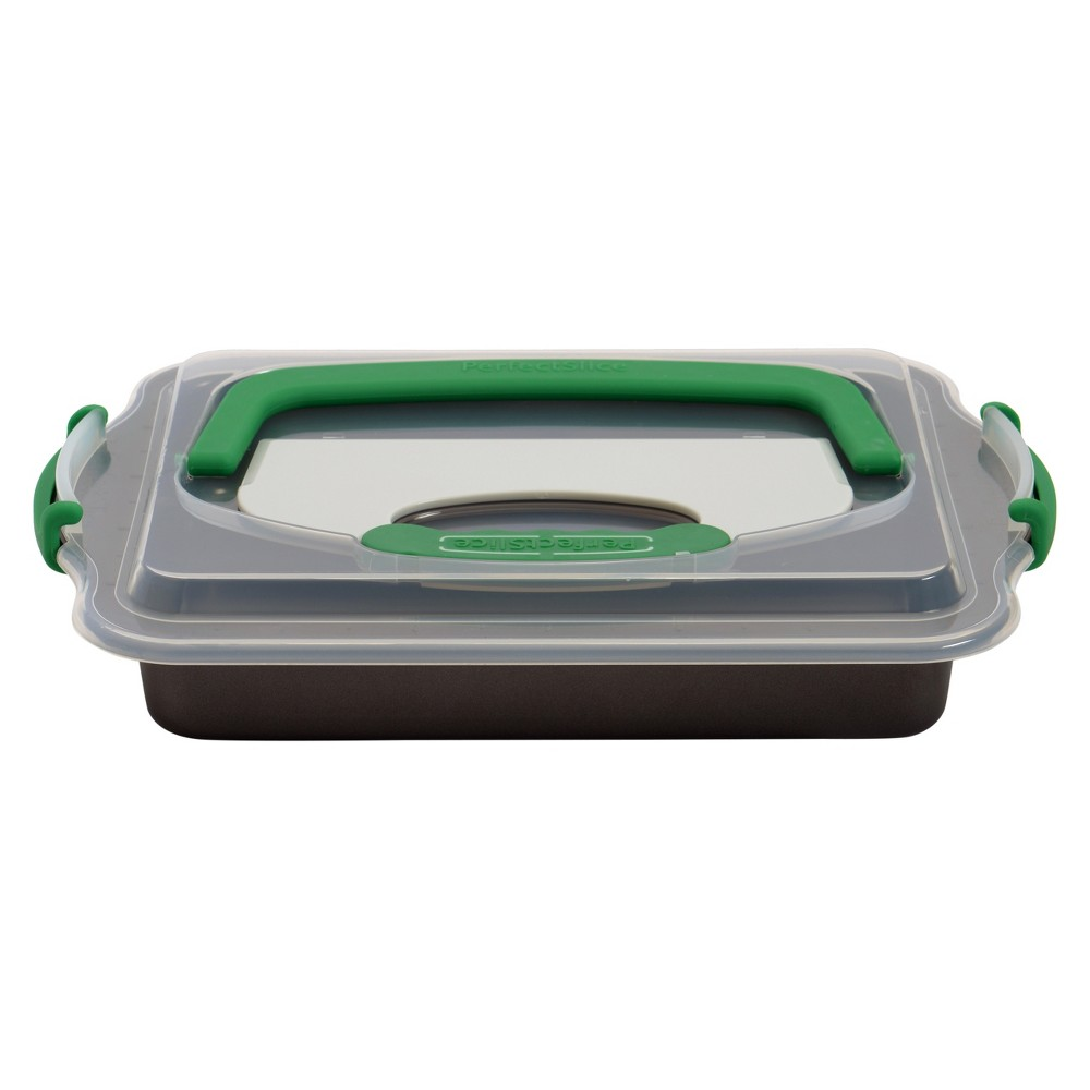 "Image of ""Berghoff Perfect Slice Covered 9""""x13"""" Cake Pan with Tool"""