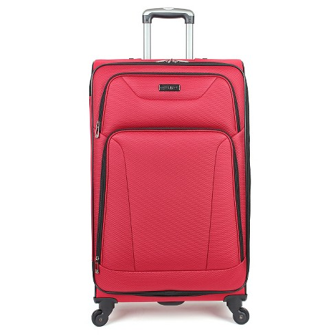 "Heritage  Wicker Park Polyester 4 Wheel Expandable Suitcase - Red (28"") - image 1 of 8"