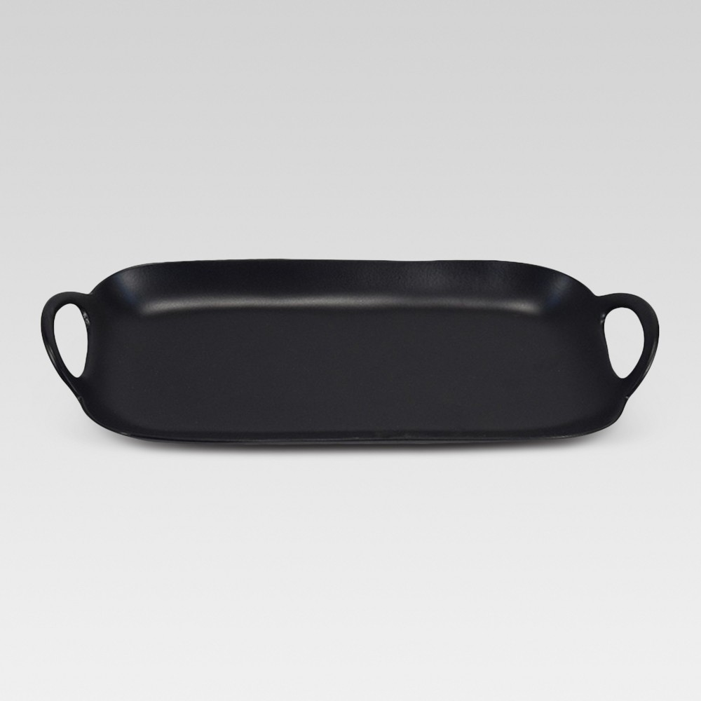 Oblong Metal Tray - Black - Project 62