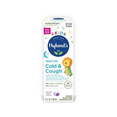 Hyland's 4 Kids Cold & Cough Nighttime Syrup - Grape - 4 fl oz