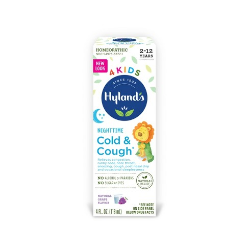 Hyland's 4 Kids Cold & Cough Nighttime Syrup - Grape - 4 fl oz - image 1 of 4