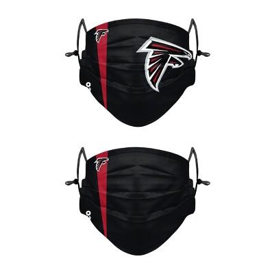 NFL Atlanta Falcons Adult Gameday Adjustable Face Covering - 2pk