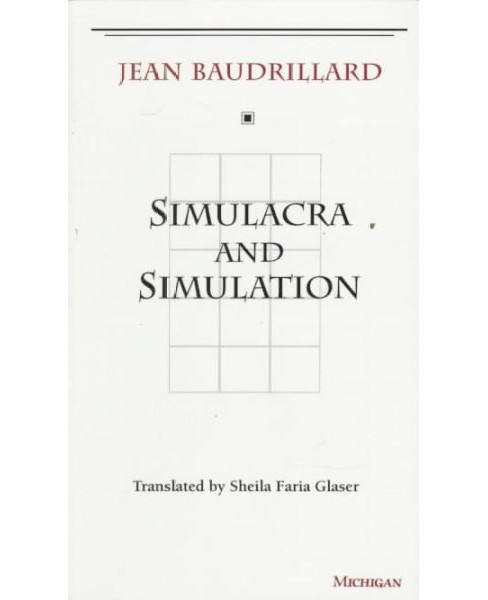 Simulacra and Simulation -  by Jean Baudrillard (Paperback) - image 1 of 1
