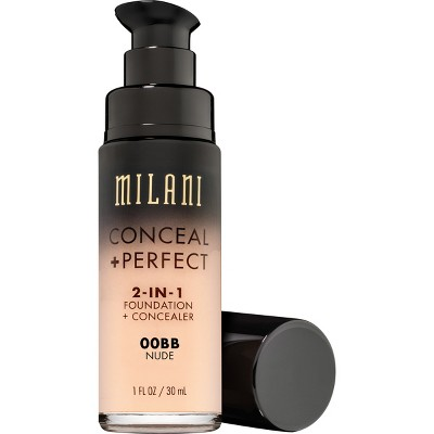 Milani Conceal + Perfect 2-in-1 Foundation + Concealer Cruelty-Free Liquid Foundation - 00AA Ivory - 1 fl oz