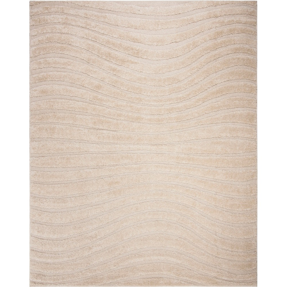 8'X10' Wave Loomed Area Rug Ivory/Light Gray - Safavieh