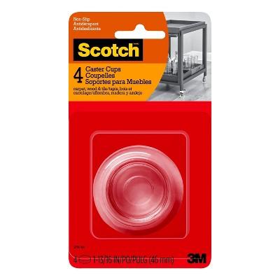 Scotch 4pk Caster Cups Clear