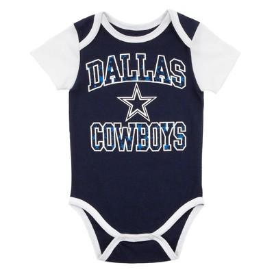 uk availability 36943 17957 NFL Dallas Cowboys Boys' 2pk Bodysuit Set - Toby