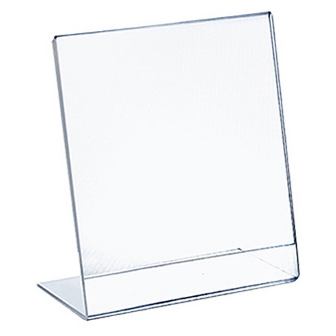 """Azar 5.5"""" x 8.5 """" L-Shaped Acrylic Sign Holder 10ct - image 1 of 1"""