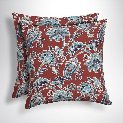 2pk Caspian Square Outdoor Throw Pillows - Arden Selections