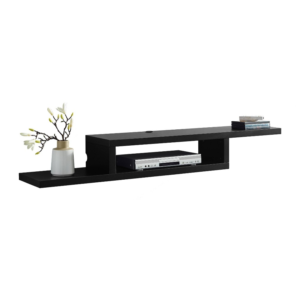 "Image of ""60"""" Skyline Wall Mounted Media Console Black - Martin Furniture, Size: 60"""""""