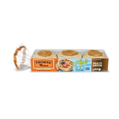 Thomas' Light Multigrain English Muffins - 12oz/6ct