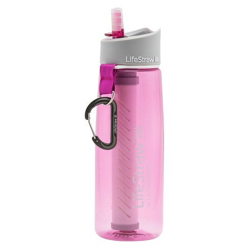 LifeStraw 2-Stage Filtration Water Bottle - Pink (23oz) - image 1 of 8