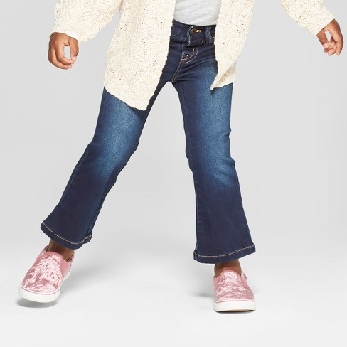Toddler Girls' Jeans - Cat & Jack™ Dark Blue 12M - image 1 of 3