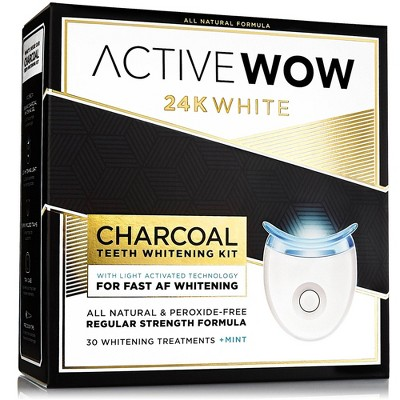 Active Wow White Charcoal Teeth Whitening Kit