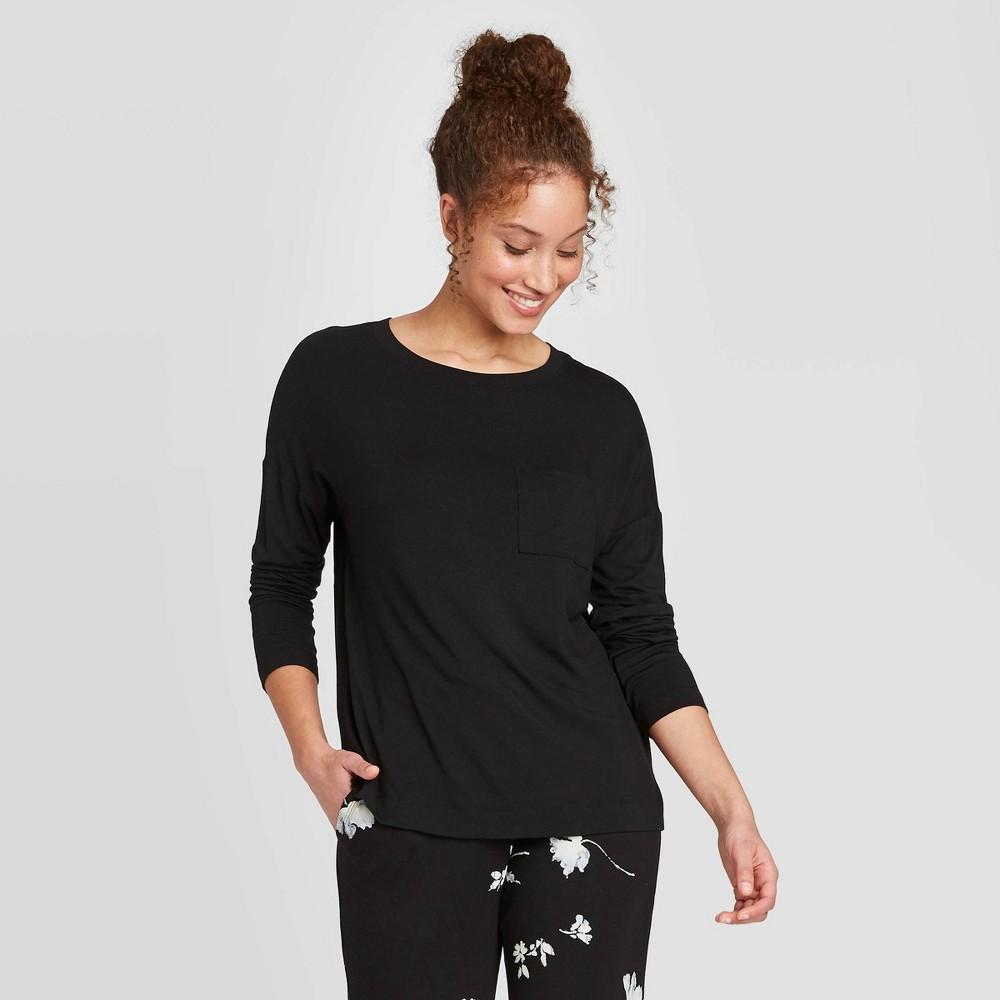 Image of Women's Long Sleeve Beautifully Soft Sleep T-Shirt - Stars Above Black S, Women's, Size: Small