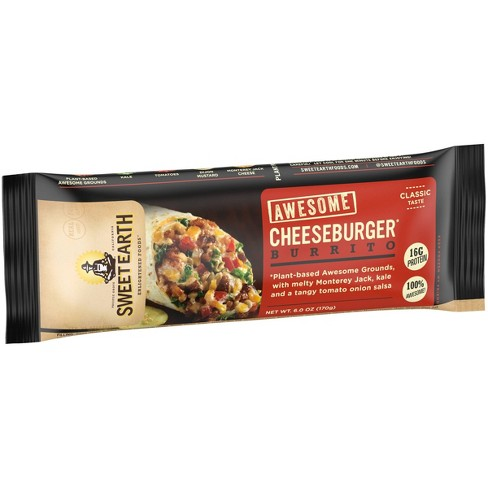 Sweet Earth Awesome Cheeseburger Burrito - 6oz - image 1 of 3