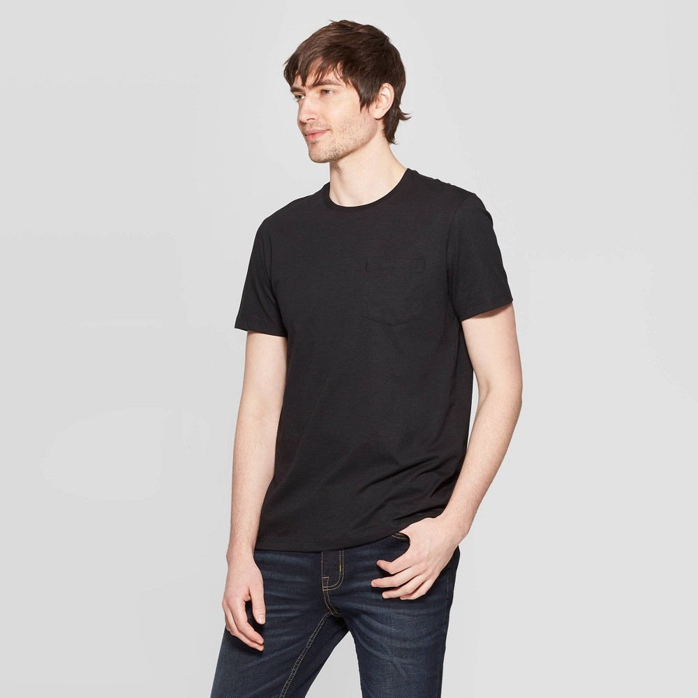 Men's Standard Fit Short Sleeve Elevated Ultra - Soft Crew Neck T-Shirt - Goodfellow & Co Black M