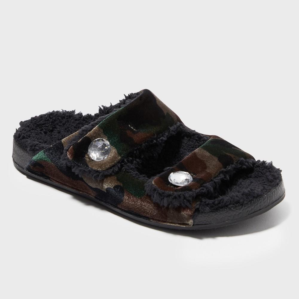Women's Dearfoams Slide Slippers - Green M