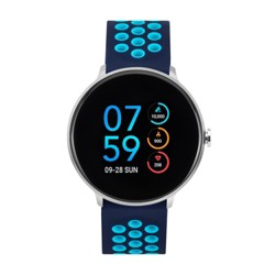 iTouch Sport Smartwatch - Blue/Turquoise Perforated