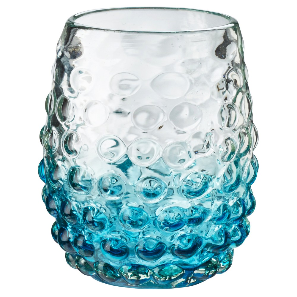 Image of Global Amici 12oz Catalina Ombre Hobnail DOF Aqua - Set of 4