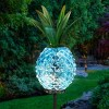 """29"""" Metal and Glass Solar Pineapple Garden Stake Blue - Exhart - image 2 of 4"""