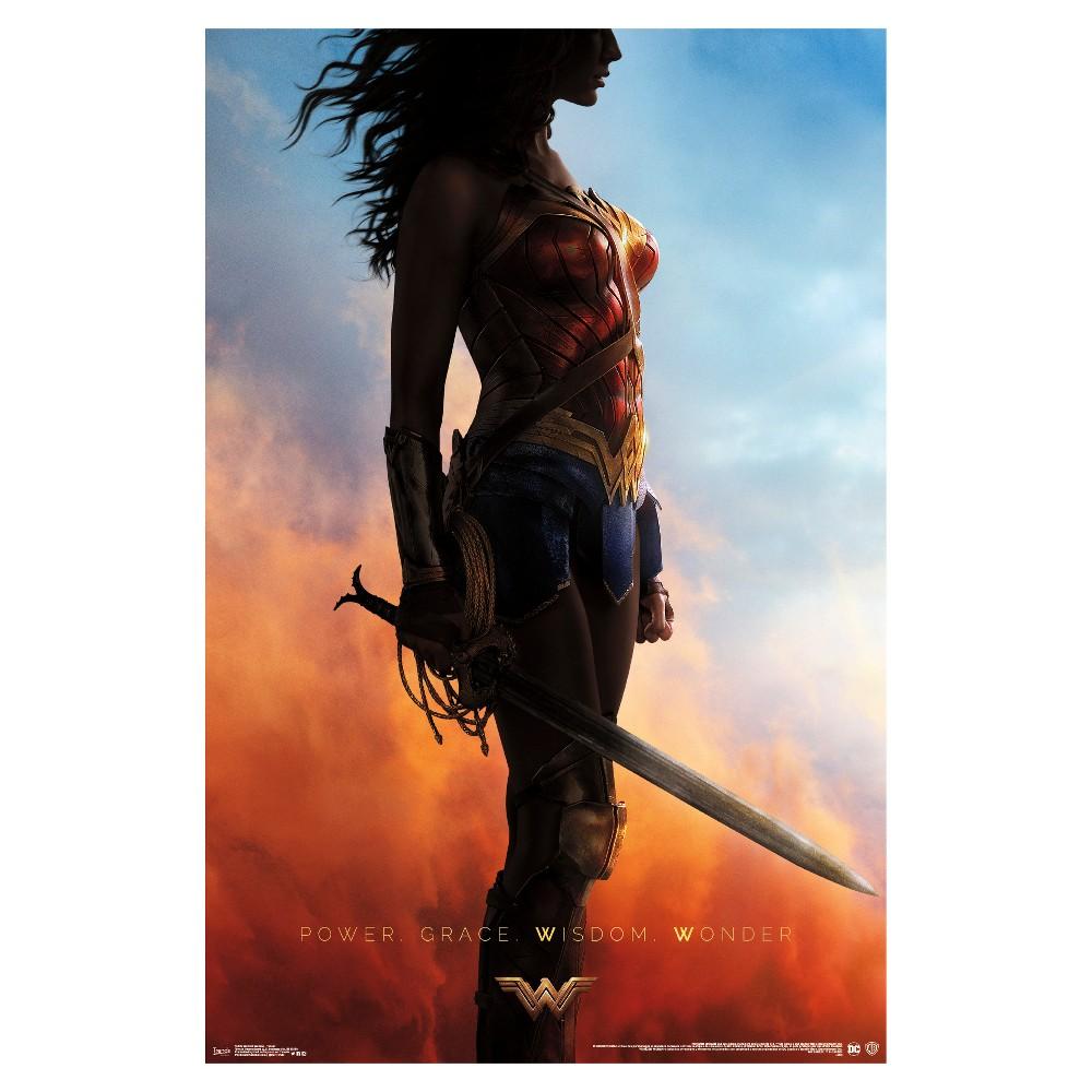 Wonder Woman Teaser Poster 34x22 - Trends International, Multi-Colored