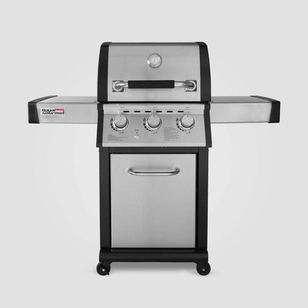 Stainless Steel 3 Burner Propane Gas Grill MG3000 Silver – Royal Gourmet 54441893
