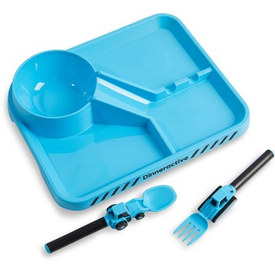 3pc Plastic Kids Construction Dining Set - Dinneractive